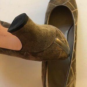 Salvatore Ferragamo Shoes - Sale Salvatore Ferragamo Taupe Suede Pumps 8.5 AA